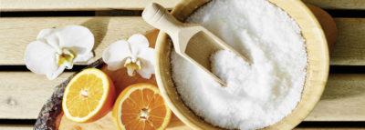 Peelingsalz mit Orangen